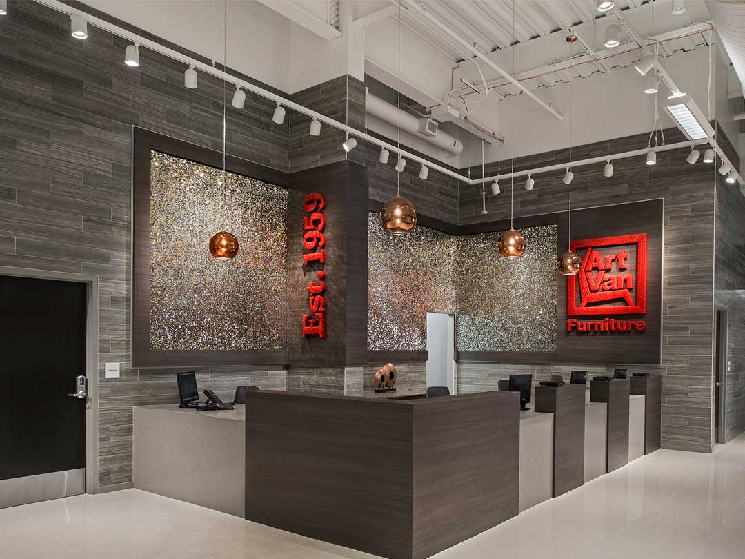 Art Van Furniture Canton Flagship Store Neumann Smith Architecture