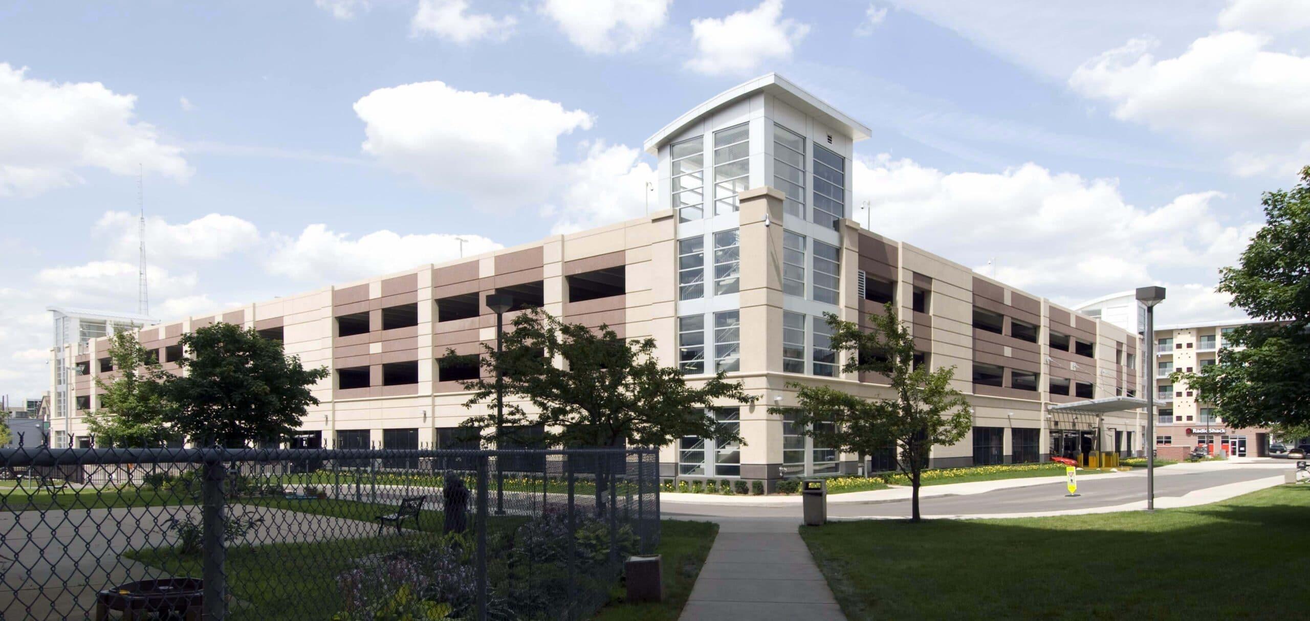 Wayne State University South Village Parking Structure