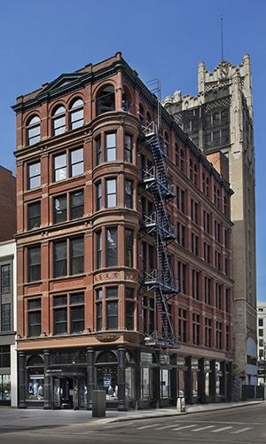 Detroit design firm building