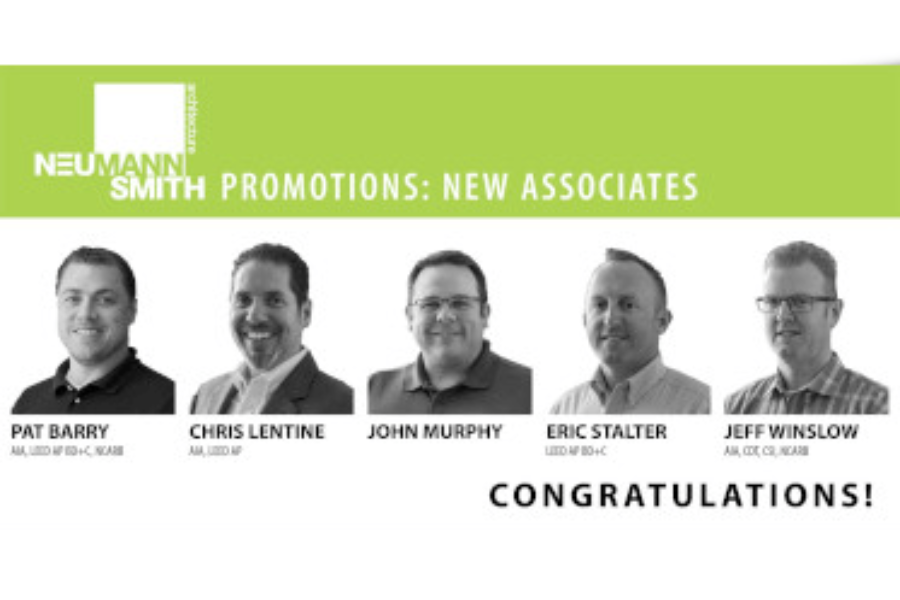 Neumann/Smith Promotes Five Employees to Associate
